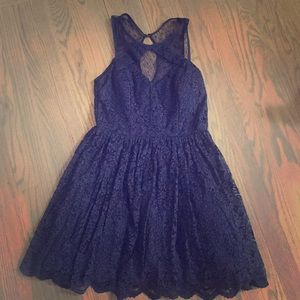 Lord and Taylor navy lace dress
